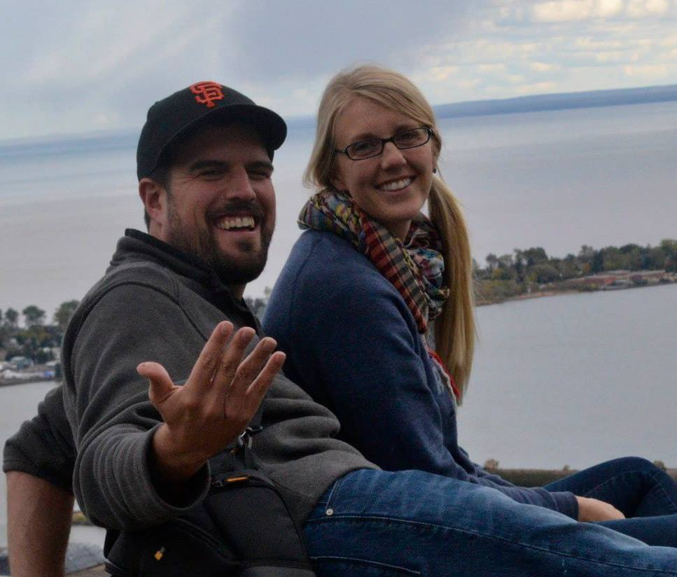 Hanging out near the Enger tower in Duluth with Megan.